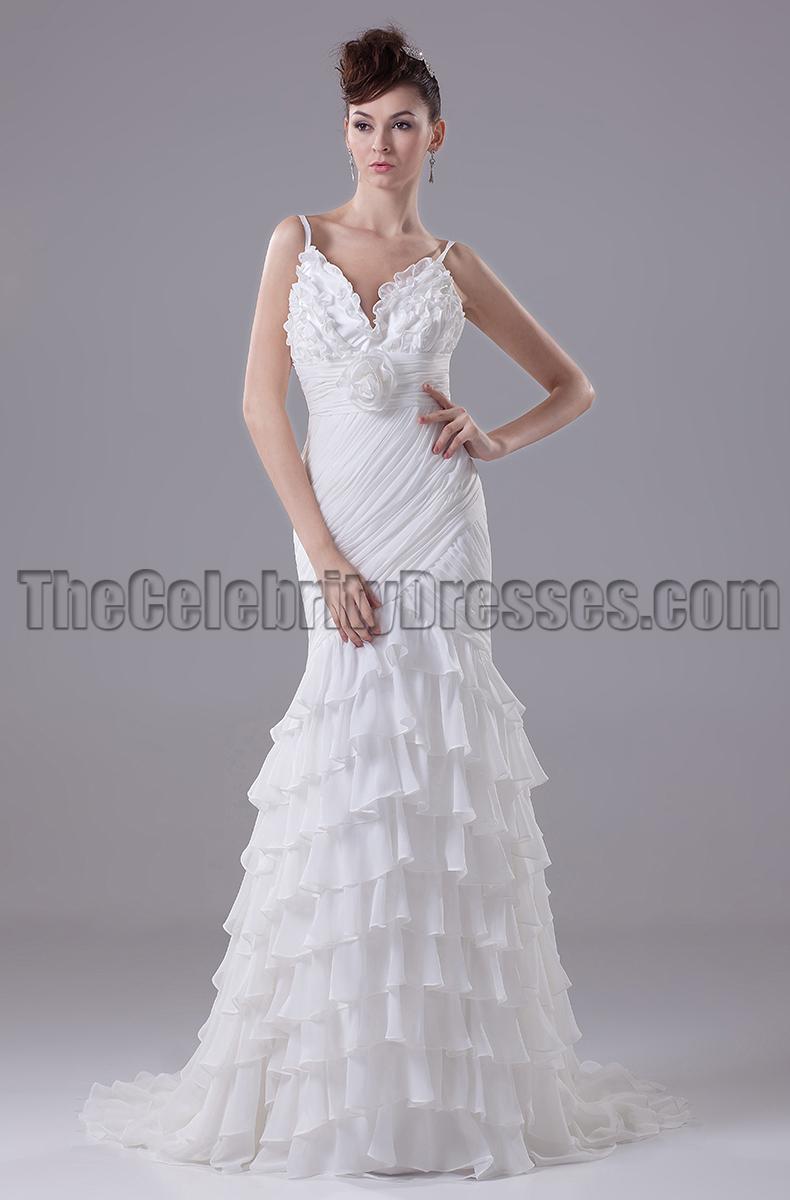 Sexy mermaid spaghetti straps wedding dresses for Mermaid wedding dress with straps