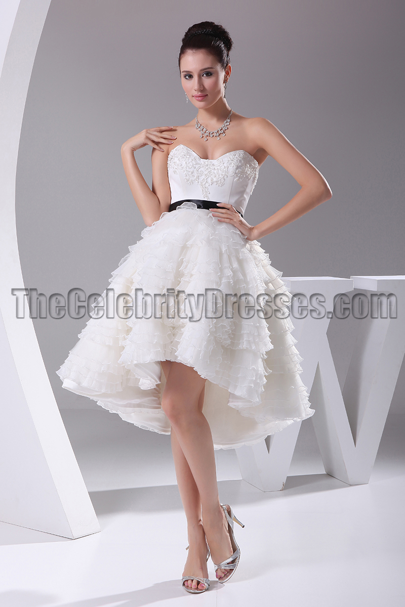 New Style A-Line Hi Low Cocktail Short Wedding Dresses ...