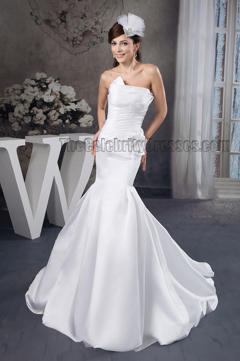 strapless mermaid wedding dresses trumpet mermaid strapless chapel wedding dress 7720