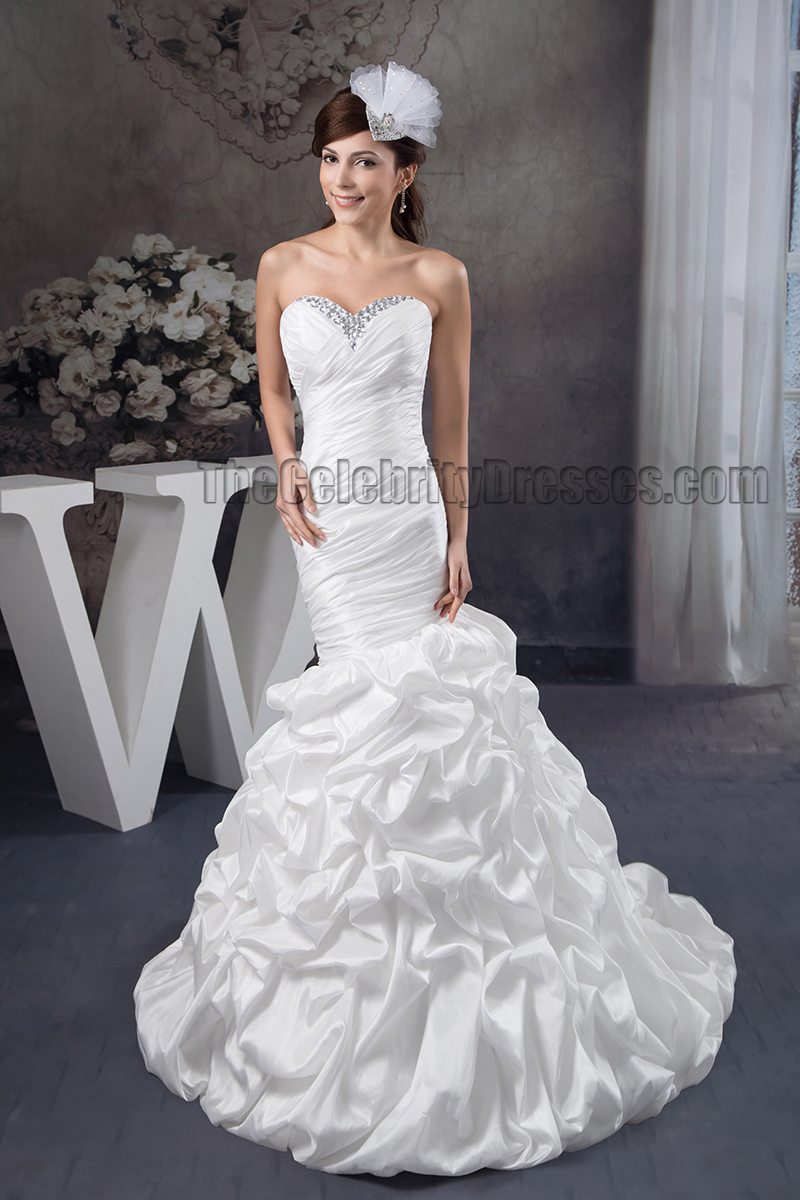 Trumpet Wedding Dresses With Ruffles : Trumpet mermaid strapless sweetheart beaded ruffles wedding dress