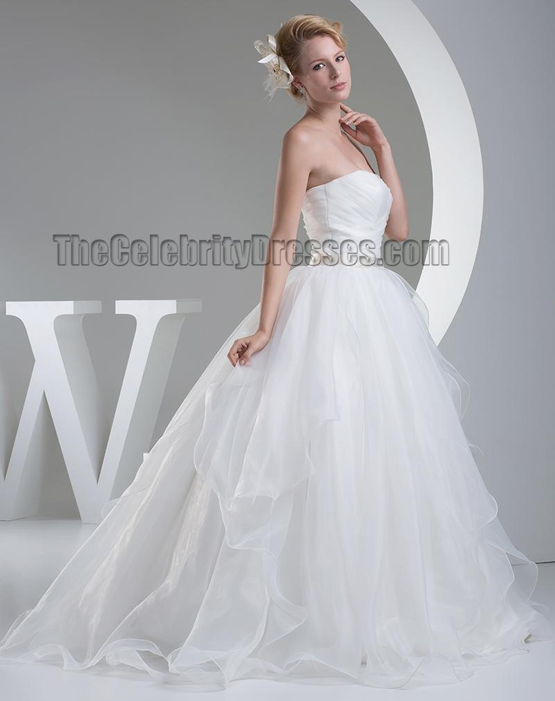 Ball Gown Organza Sweetheart Strapless Wedding Dress ...