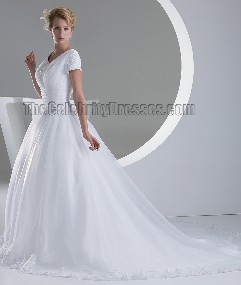 Chapel Train Strapless Sweetheart Taffeta Wedding Dresses ...