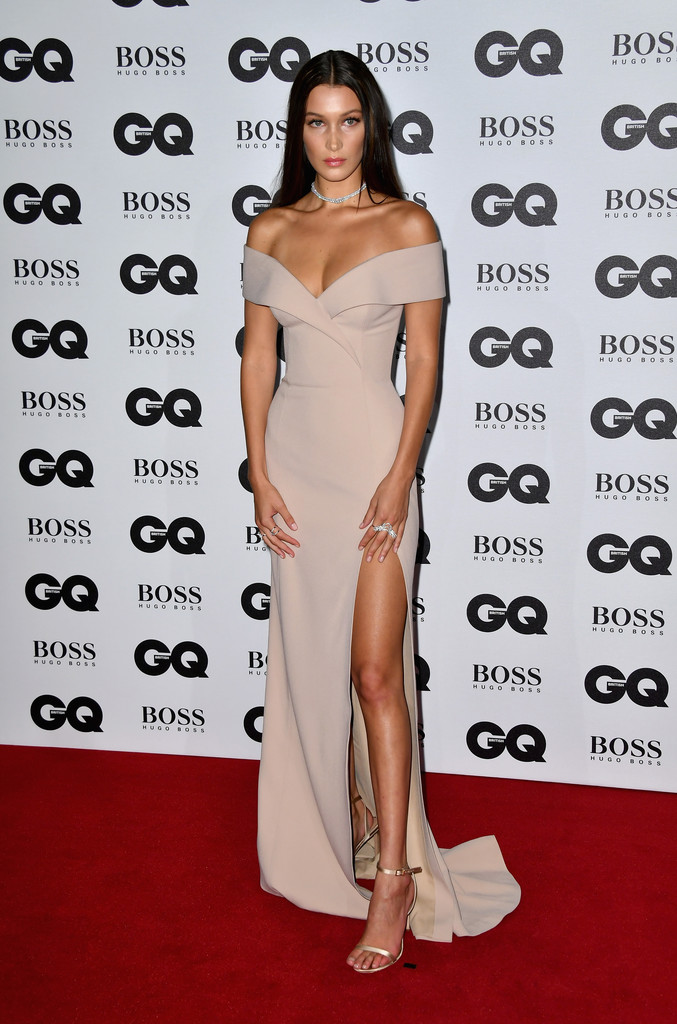 Bella Hadid Sexy Off-shoulder Evening Prom Gown GQ Model ...