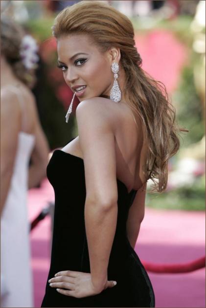 Beyonce Knowles Black Formal Dress Oscar 2005 Red Carpet