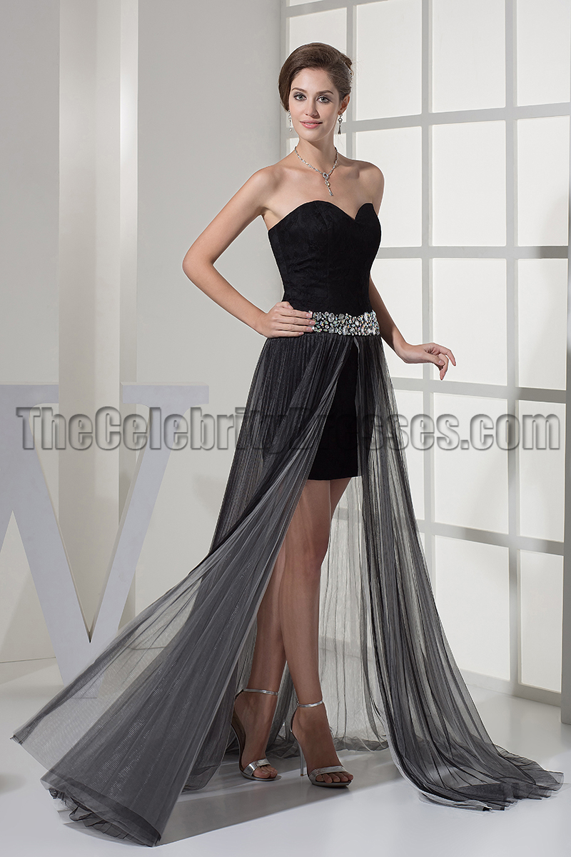 Black Sweetheart Prom Gown Evening Party Dresses - TheCelebrityDresses