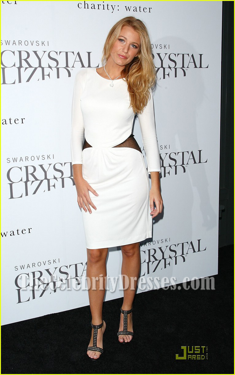 Blake Lively Sexy White Long Sleeve Backless Cocktail Party Dresses ...
