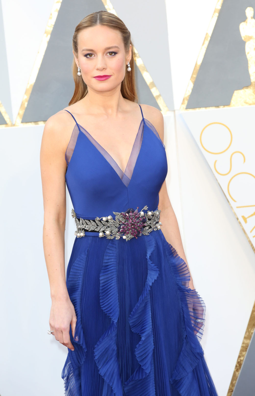 Brie Larson 88th Annual Academy Awards Royal Blue Formal Dress ...