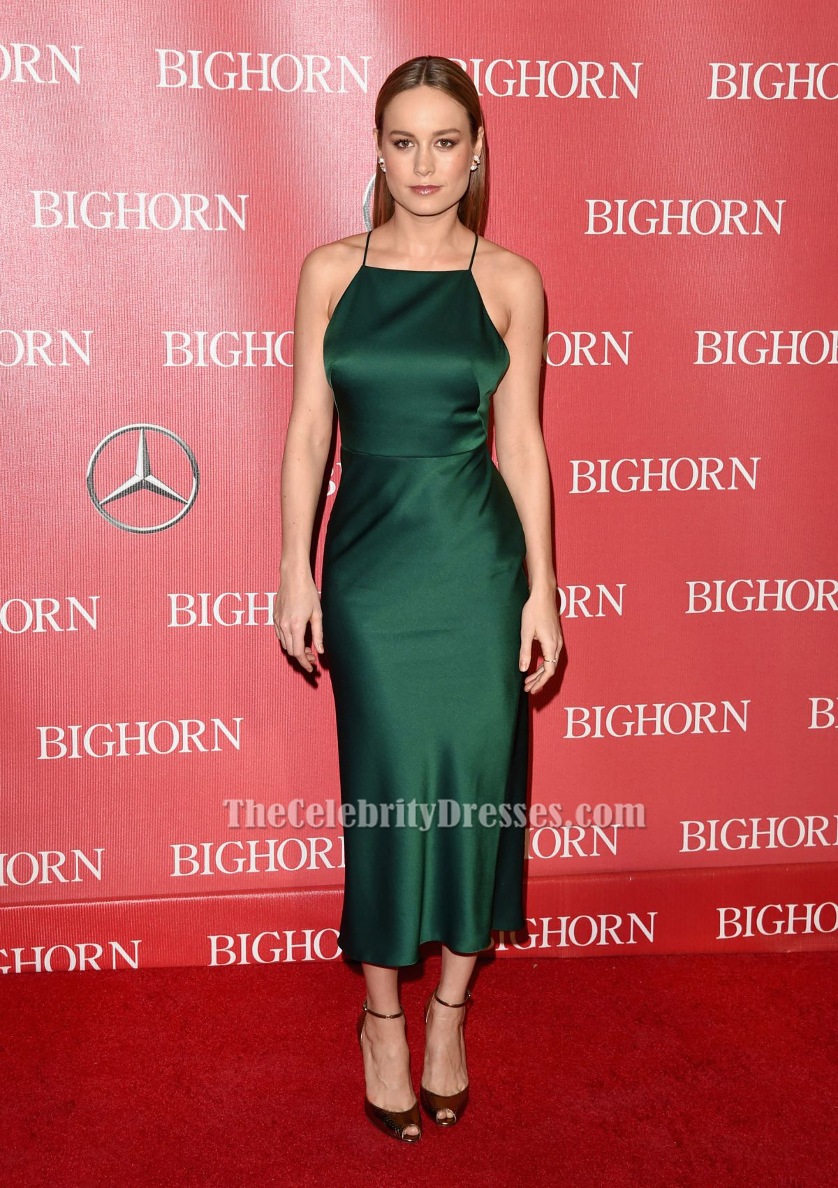 Brie Larson Dark Green Backless Cocktail Party Dresses ...