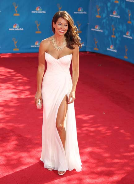 Brooke Burke White Evening Dress 62nd Emmy Awards - TheCelebrityDresses