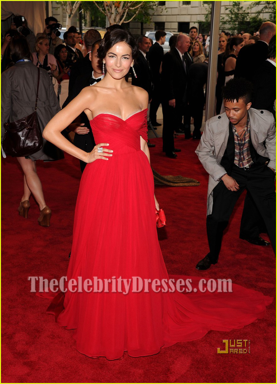 Camilla Belle Strapless Chiffon Prom Gown Red Carpet