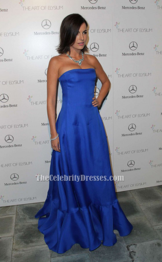 Camilla Belle Royal Blue Strapless Evening Dress Art of Elysium ...