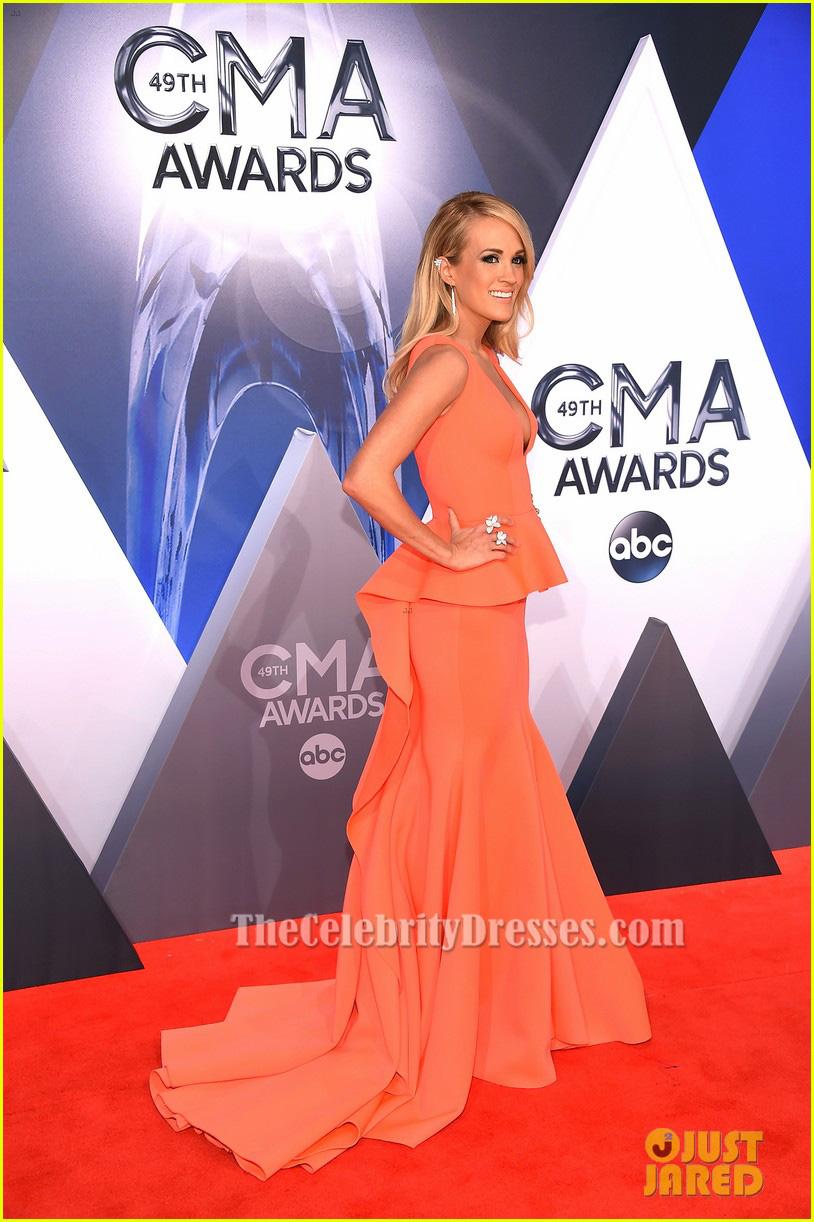 Carrie Underwood Mermaid Formal Dress CMA Awards 2015 Red Carpet ...