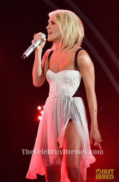 Carrie Underwood Grammys 2016 Performance Short Dress