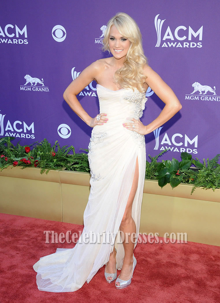 Carrie Underwood Prom Dress Country Music Awards 2012 Red