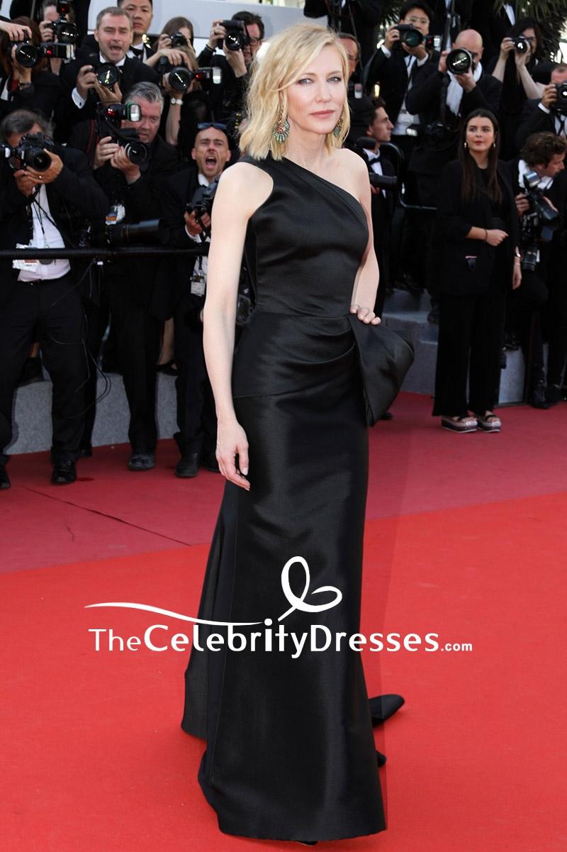 9346da556b Cate Blanchett Black One-shoulder Sheath Formal Dress 2018 Cannes Film  Festival Red Carpet - TheCelebrityDresses