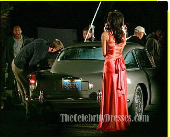 caterina murino sexy evening dress in movie casino royale