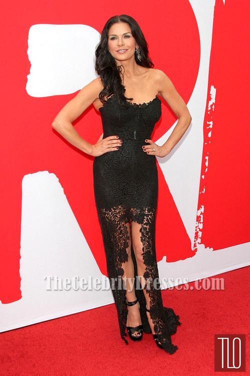 Catherine Zeta Jones Black Prom Dress Red 2 Premiere Red