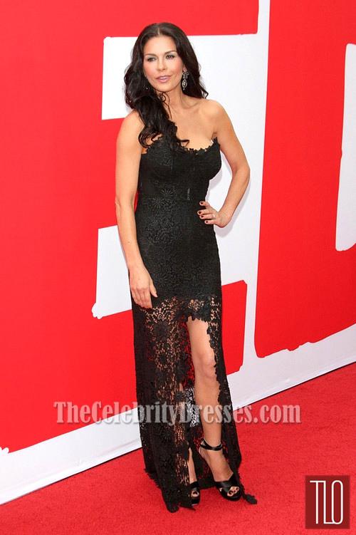 Catherine Zeta Jones Black Prom DressRed 2 Premiere Red Carpet