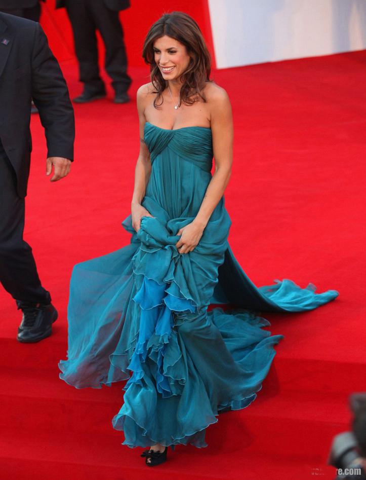 Celebrity Dresses Elisabetta Canalis Prom Gown Evening Dress Venice ...