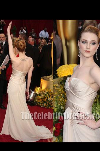 Celebrity Dresses Evan Rachel Wood Formal Evening Gown 2009 Oscars Red Carpet