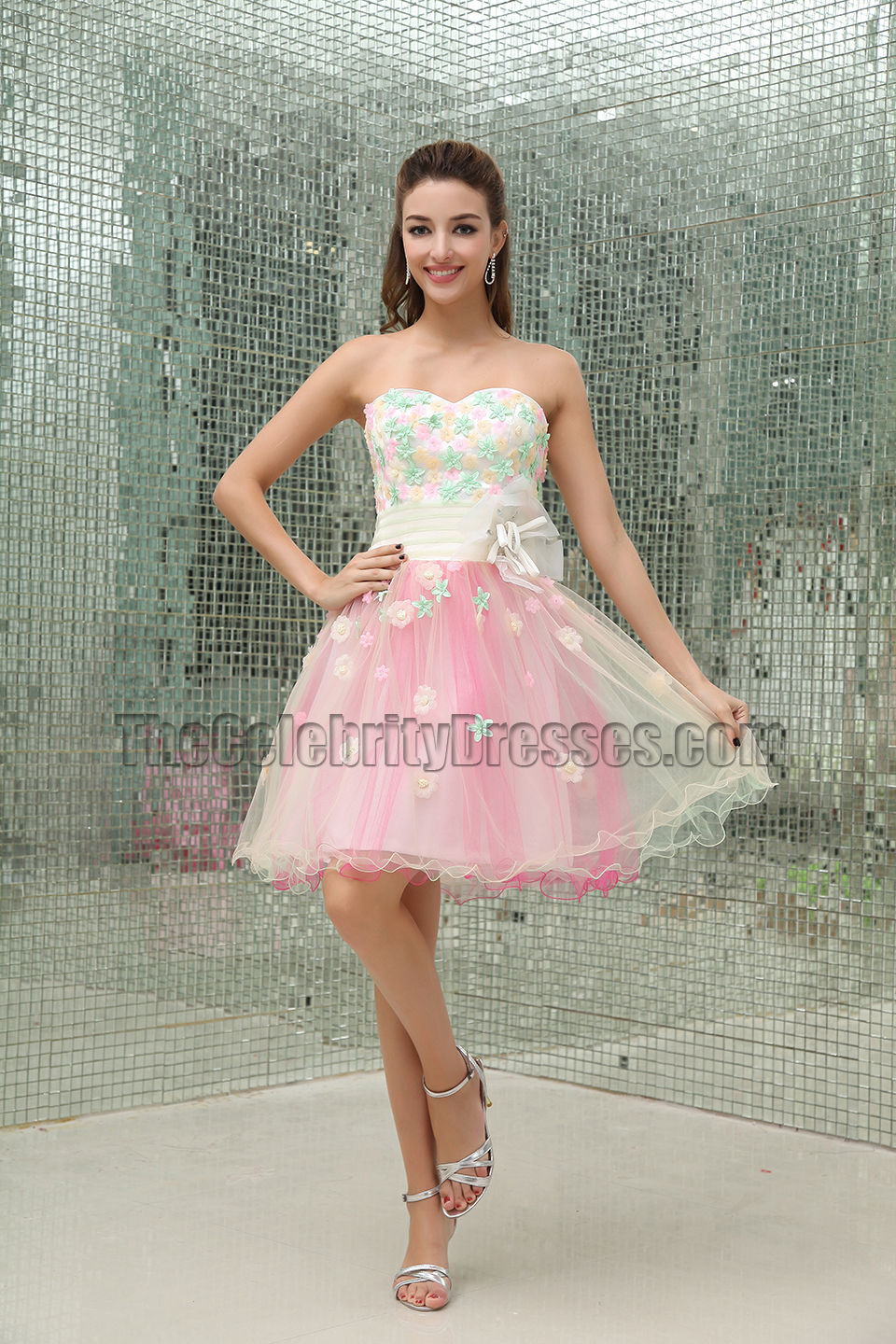Celebrity Inspired A Line Sweet 16 Party Homecoming Dress