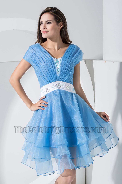 Blue Organza Dresses