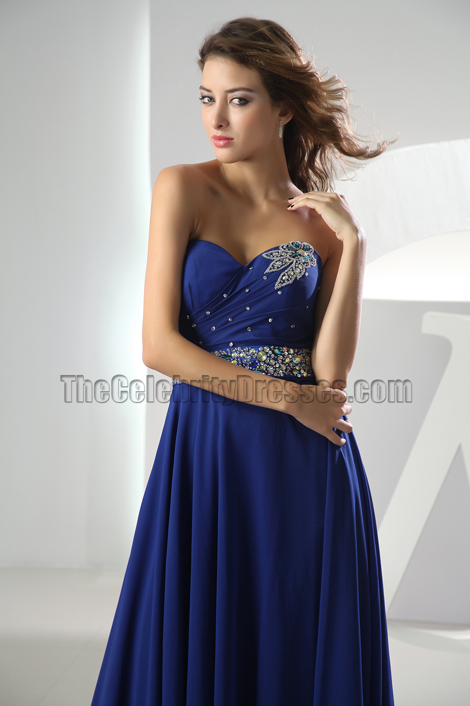 Royal Blue Sweetheart Prom Dress Formal Evening Dresses ...