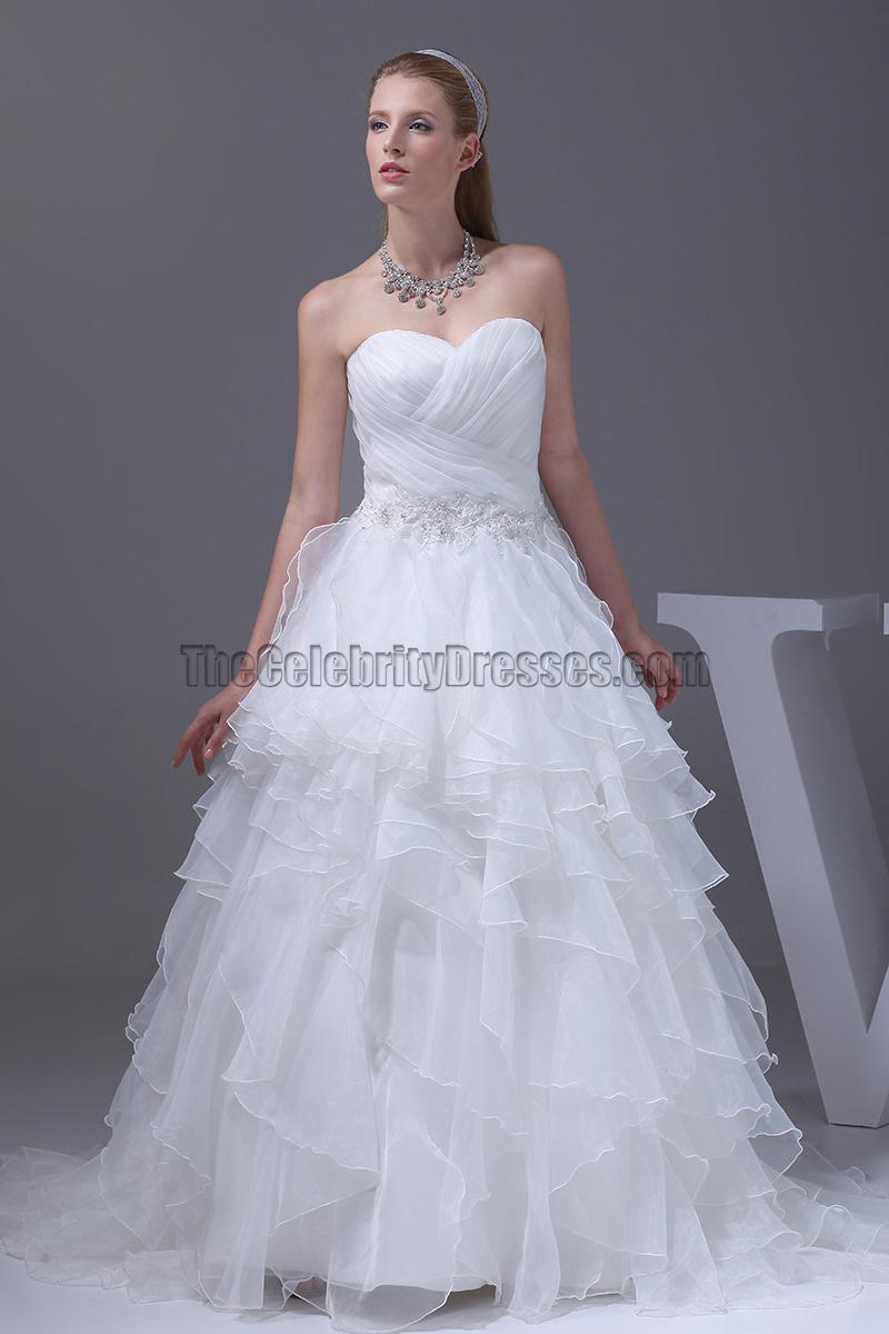 Celebrity Inspired Strapless Sweetheart Ball Gown Wedding Dresses ...