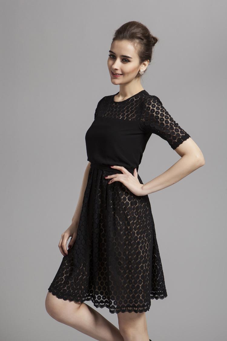 celebrity inspires short black lace cocktail party dresses