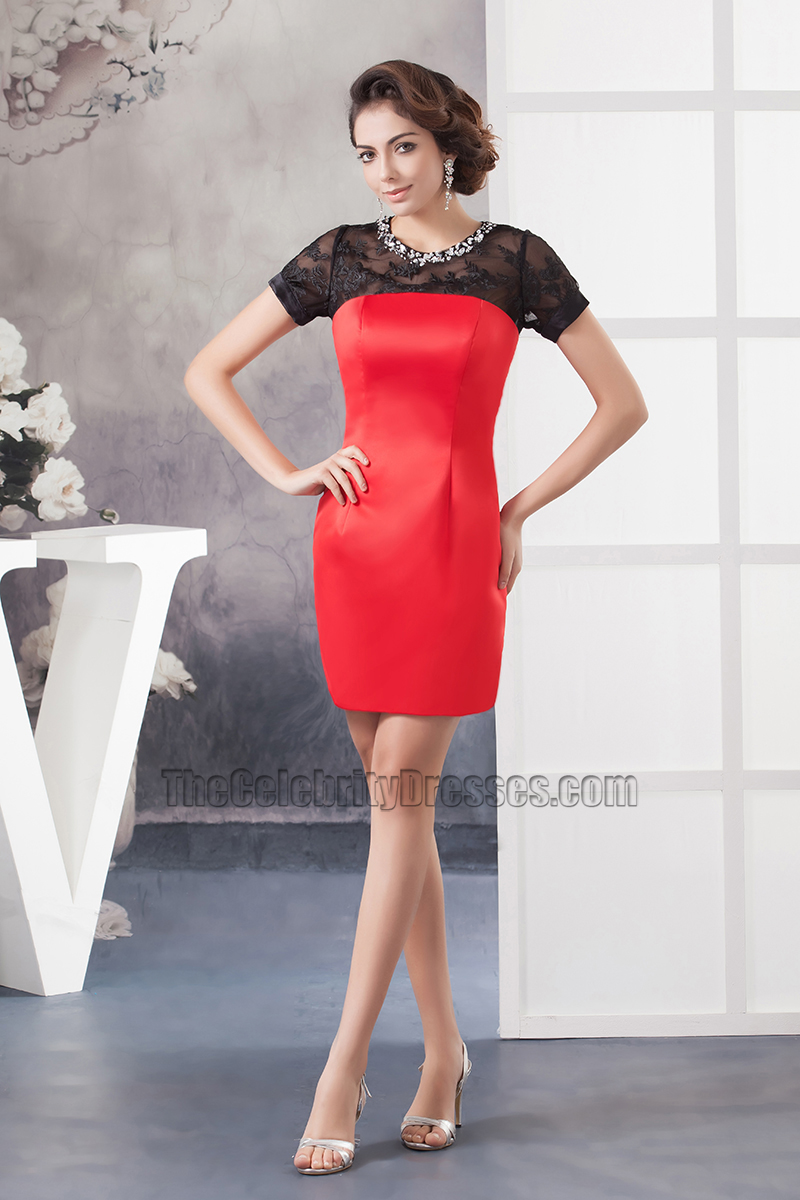 f784102cef3 Chic Black And Red Party Graduation Homecoming Dresses - TheCelebrityDresses