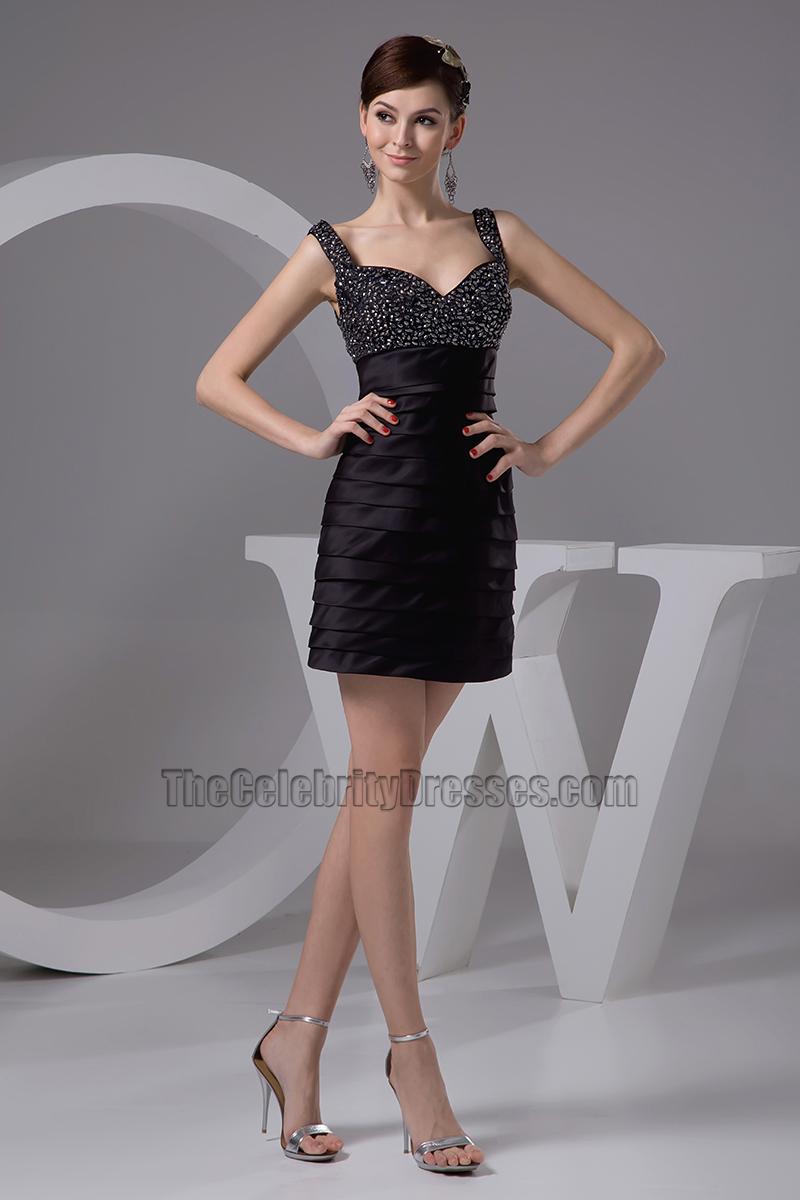 Short Mini Beaded Little Black Dresses - TheCelebrityDresses