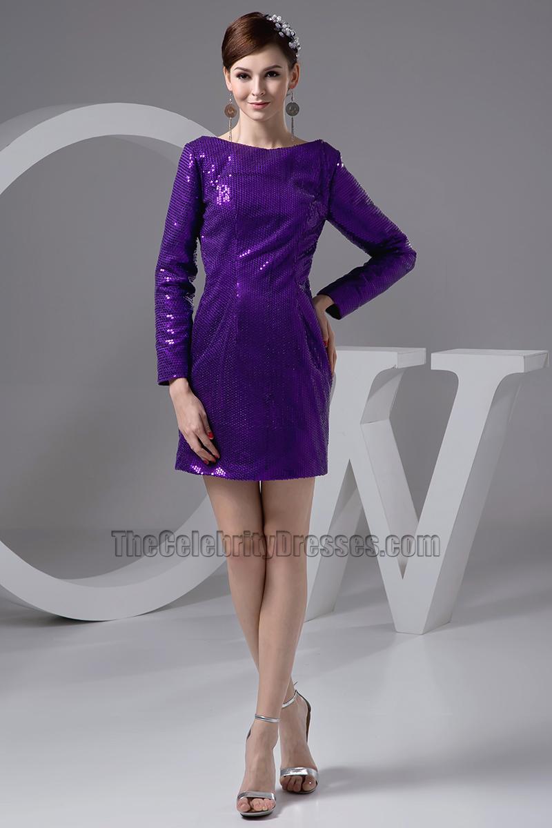 Chic Long Sleeve Regency Sequins Party Graduation Dresses ...