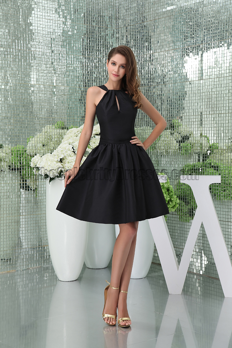 Chic Short Black A-Line Party Graduation Little Black Dresses ...