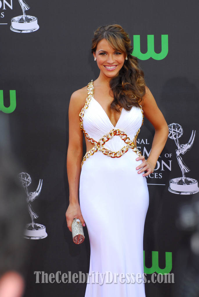 Chrishell Stause White Evening Dress 36th Annual Daytime