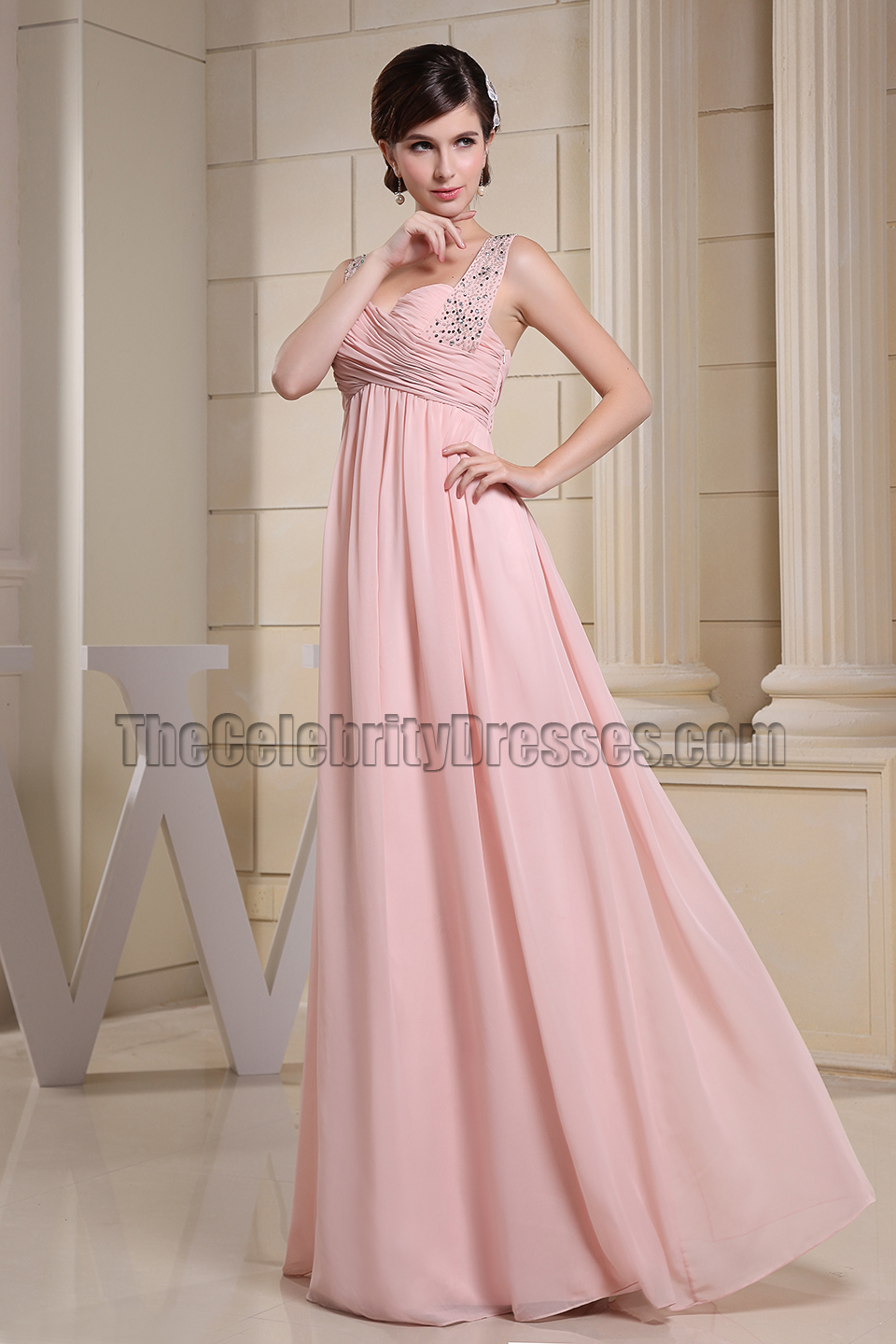 Sweetheart Pink Beaded Prom Dresses Evening Gowns - TheCelebrityDresses