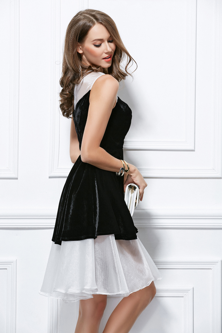 black party dress white and black mini homecoming dresses 12071