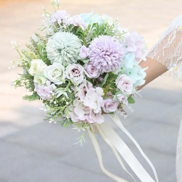 Multi-Colored Free-Form Bridal Bouquets