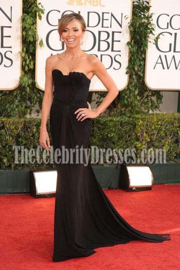 Giuliana Rancic Black Evening Dress 2011 Golden Globe Awards