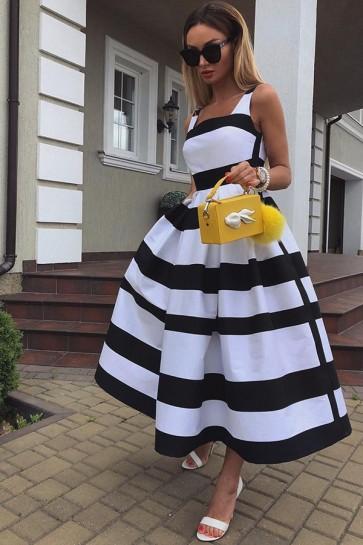 Printed Lace-up Shirt Dress