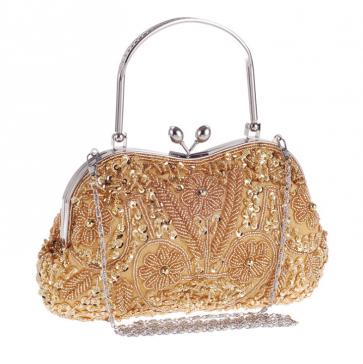 Handmade beaded clutch bag ladies classic handbag  TCDBG0095