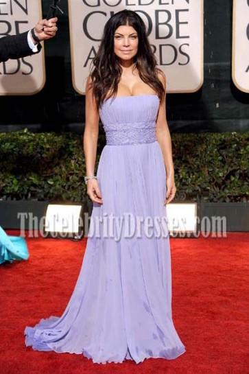 Fergie Lavender Evening Dress 67th Golden Globe Awards Celebrity Dresses