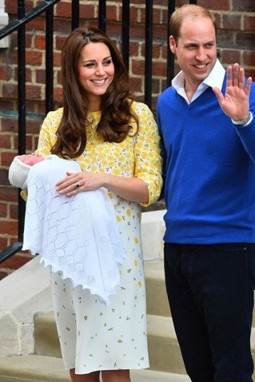 Kate Middleton Maternity Print Floral Short Summer Dress