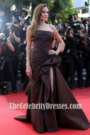 Angelina Jolie Red Carpet Dress Evening Gown Cannes Film Festival 2011