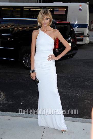 Anja Rubik Sexy Evening Dress 2009 CFDA Awards Celebrity Gowns