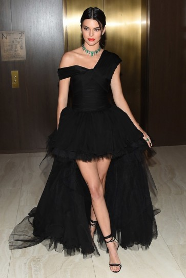 Kendall Jenner Black Evening Dress Daily Front Row's Fashion Media Awards TCD8802