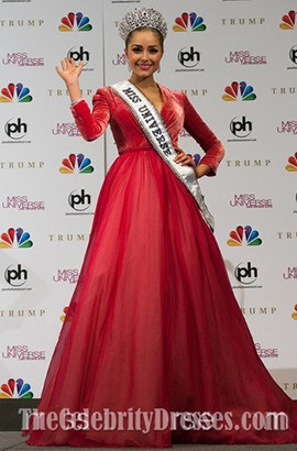 2012 Miss Universe Olivia Culpo Red Pageant Prom Dresses
