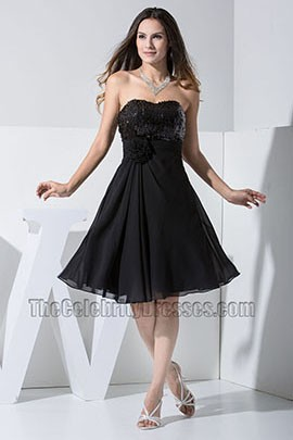 2013 New Style Black Strapless Cocktail Dresses Party Homecoming Dress