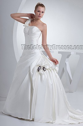 Gorgeous Chapel Train Strapless Ball Gown  Wedding Dresses
