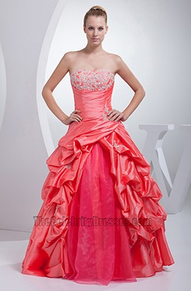 A-Line Strapless Full Length Embroidery Formal Wedding Dresses