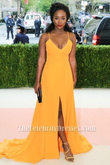 Aja Naomi King 2016 met gala Red Carpet Celebrity Evening Dresses TCD7039